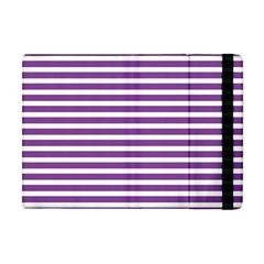 Horizontal Stripes Purple Apple Ipad Mini Flip Case