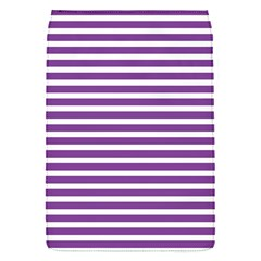 Horizontal Stripes Purple Flap Covers (s)  by Mariart
