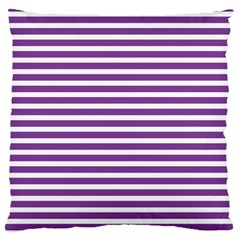 Horizontal Stripes Purple Standard Flano Cushion Case (two Sides) by Mariart