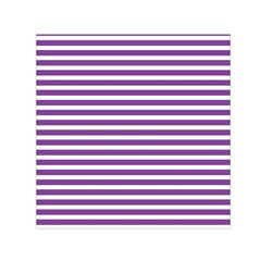 Horizontal Stripes Purple Small Satin Scarf (square) by Mariart