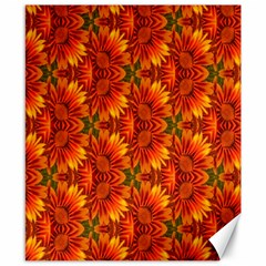 Background Flower Fractal Canvas 8  X 10  by Simbadda