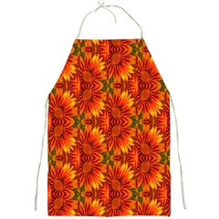 Background Flower Fractal Full Print Aprons by Simbadda