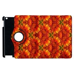 Background Flower Fractal Apple Ipad 3/4 Flip 360 Case by Simbadda