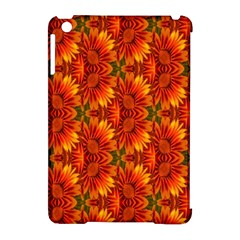 Background Flower Fractal Apple iPad Mini Hardshell Case (Compatible with Smart Cover) by Simbadda