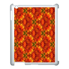 Background Flower Fractal Apple Ipad 3/4 Case (white) by Simbadda