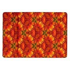 Background Flower Fractal Samsung Galaxy Tab 10 1  P7500 Flip Case by Simbadda
