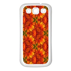 Background Flower Fractal Samsung Galaxy S3 Back Case (white) by Simbadda