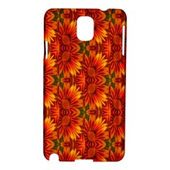 Background Flower Fractal Samsung Galaxy Note 3 N9005 Hardshell Case by Simbadda