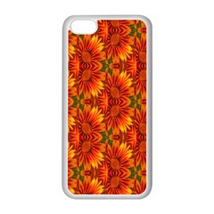 Background Flower Fractal Apple Iphone 5c Seamless Case (white) by Simbadda