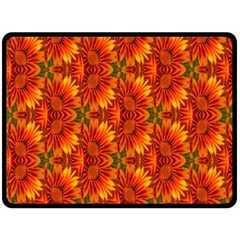 Background Flower Fractal Double Sided Fleece Blanket (large)  by Simbadda