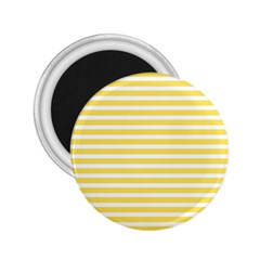 Horizontal Stripes Yellow 2 25  Magnets