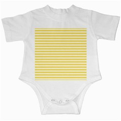 Horizontal Stripes Yellow Infant Creepers