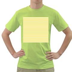 Horizontal Stripes Yellow Green T Shirt