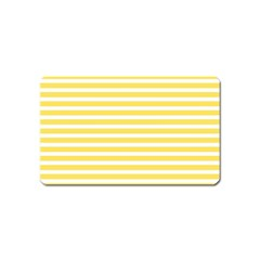 Horizontal Stripes Yellow Magnet (name Card)