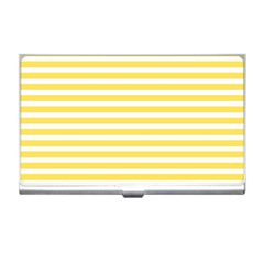 Horizontal Stripes Yellow Business Card Holders by Mariart