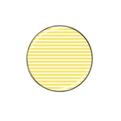 Horizontal Stripes Yellow Hat Clip Ball Marker (4 Pack) by Mariart