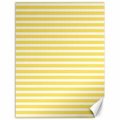 Horizontal Stripes Yellow Canvas 12  X 16