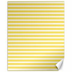 Horizontal Stripes Yellow Canvas 16  X 20