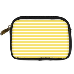 Horizontal Stripes Yellow Digital Camera Cases by Mariart