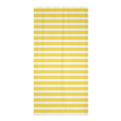 Horizontal Stripes Yellow Shower Curtain 36  X 72  (stall)  by Mariart