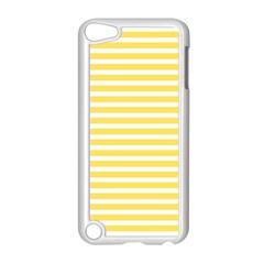 Horizontal Stripes Yellow Apple Ipod Touch 5 Case (white)