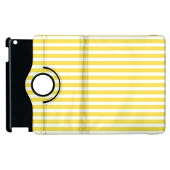 Horizontal Stripes Yellow Apple Ipad 3/4 Flip 360 Case