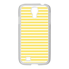 Horizontal Stripes Yellow Samsung Galaxy S4 I9500/ I9505 Case (white)