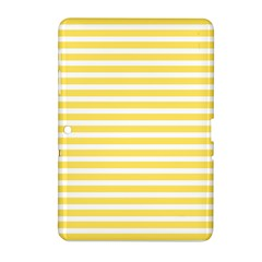 Horizontal Stripes Yellow Samsung Galaxy Tab 2 (10 1 ) P5100 Hardshell Case  by Mariart
