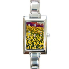 Colorful Tulips In Keukenhof Gardens Wallpaper Rectangle Italian Charm Watch