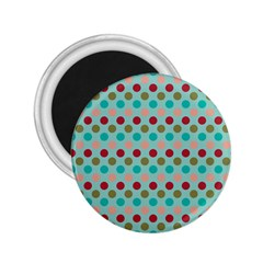 Large Colored Polka Dots Line Circle 2 25  Magnets by Mariart