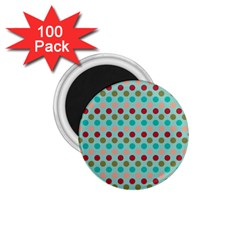 Large Colored Polka Dots Line Circle 1 75  Magnets (100 Pack)