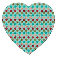 Large Colored Polka Dots Line Circle Jigsaw Puzzle (heart) by Mariart