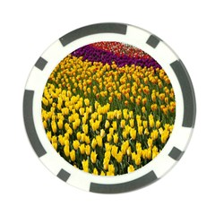 Colorful Tulips In Keukenhof Gardens Wallpaper Poker Chip Card Guard (10 Pack) by Simbadda