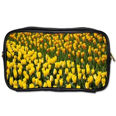 Colorful Tulips In Keukenhof Gardens Wallpaper Toiletries Bags 2 Side by Simbadda