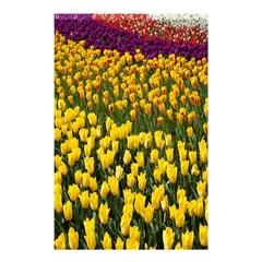 Colorful Tulips In Keukenhof Gardens Wallpaper Shower Curtain 48  X 72  (small)  by Simbadda