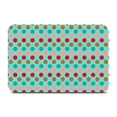 Large Colored Polka Dots Line Circle Plate Mats by Mariart