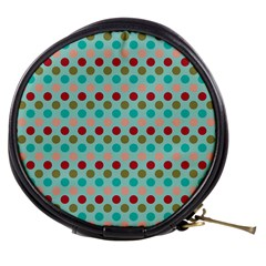 Large Colored Polka Dots Line Circle Mini Makeup Bags by Mariart