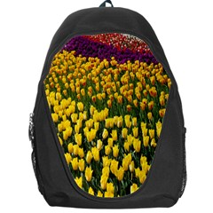Colorful Tulips In Keukenhof Gardens Wallpaper Backpack Bag by Simbadda
