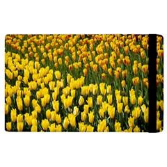 Colorful Tulips In Keukenhof Gardens Wallpaper Apple Ipad 2 Flip Case by Simbadda