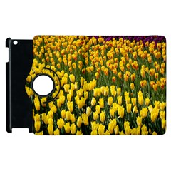 Colorful Tulips In Keukenhof Gardens Wallpaper Apple Ipad 3/4 Flip 360 Case by Simbadda
