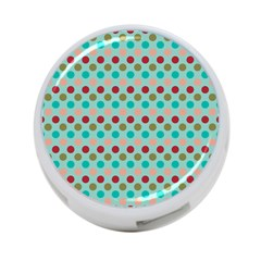 Large Colored Polka Dots Line Circle 4 Port Usb Hub (two Sides)  by Mariart