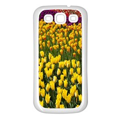 Colorful Tulips In Keukenhof Gardens Wallpaper Samsung Galaxy S3 Back Case (White)