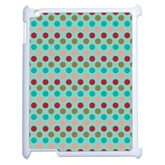 Large Colored Polka Dots Line Circle Apple Ipad 2 Case (white) by Mariart