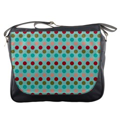 Large Colored Polka Dots Line Circle Messenger Bags by Mariart