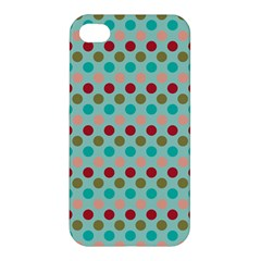 Large Colored Polka Dots Line Circle Apple Iphone 4/4s Premium Hardshell Case