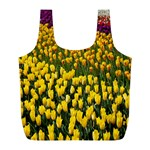Colorful Tulips In Keukenhof Gardens Wallpaper Full Print Recycle Bags (L)  Back