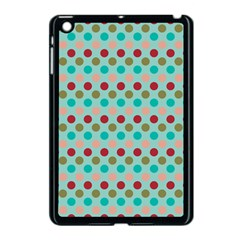 Large Colored Polka Dots Line Circle Apple Ipad Mini Case (black) by Mariart