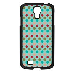Large Colored Polka Dots Line Circle Samsung Galaxy S4 I9500/ I9505 Case (black)