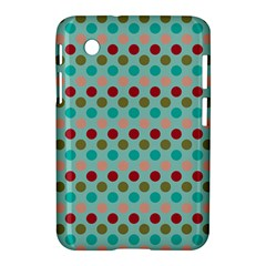 Large Colored Polka Dots Line Circle Samsung Galaxy Tab 2 (7 ) P3100 Hardshell Case