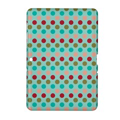 Large Colored Polka Dots Line Circle Samsung Galaxy Tab 2 (10 1 ) P5100 Hardshell Case